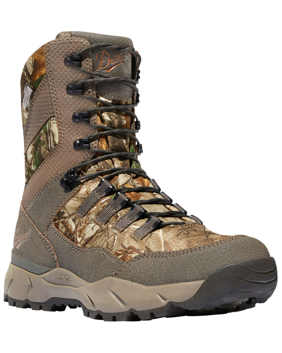 """Danner Men's Realtree Xtra Vital 8"""" Lace-Up Waterproof Boots - Round Toe, Camouflage, hi-res"""