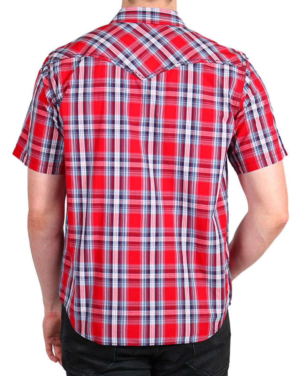 Cody James® Men's Lava Short Sleeve Shirt, Red, hi-res