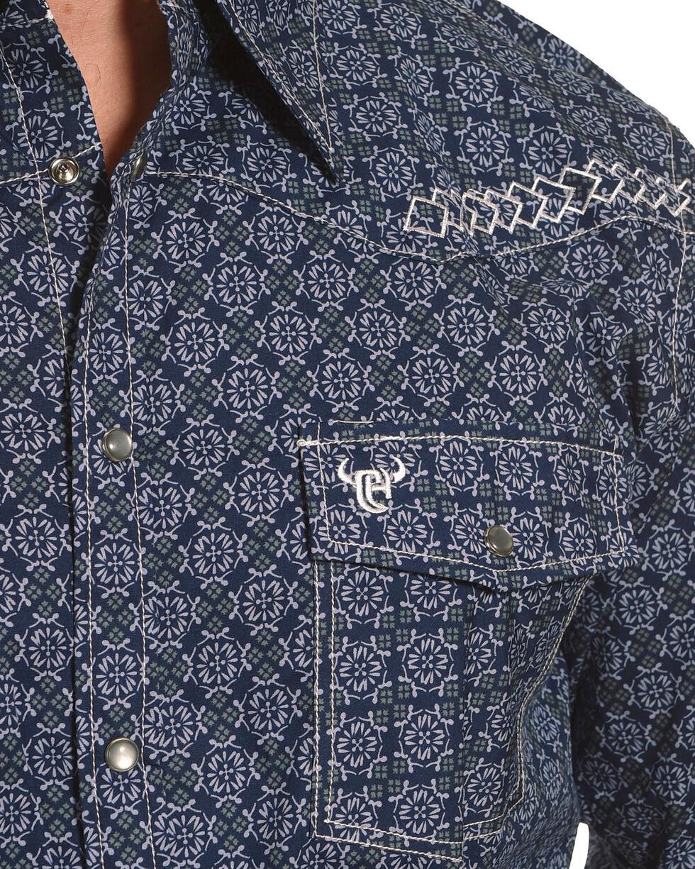 Cowboy Hardware Men's Navy Town Square Print Long Sleeve Shirt, Navy, hi-res
