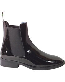 Smoky Mountain Women's Jodhpur Patent Leather Paddock Boots, Black, hi-res