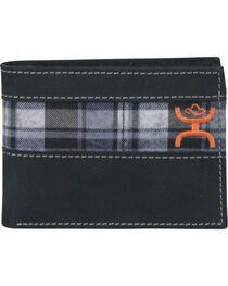 Hooey Men's Black and Grey Plaid Bi-Fold Wallet, , hi-res