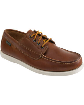 Eastland Men's Peanut Brown Falmouth Camp Mocs, Brown, hi-res