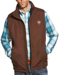 Ariat Men's Team Vest, Brown, hi-res