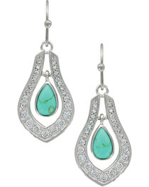 Montana Silversmiths Women's Silver School of Nature Earrings , , hi-res