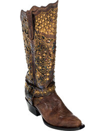Ferrini Chocolate Country Rebel Cowgirl Boots - Pointed Toe, , hi-res