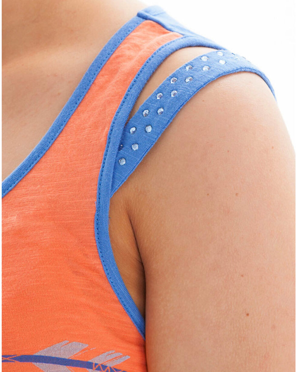 Cowgirl Tuff Women's Sheer Back Tank, , hi-res