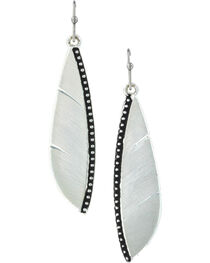 Montana Silversmiths Women's Beaded Plume Feather Earrings , , hi-res
