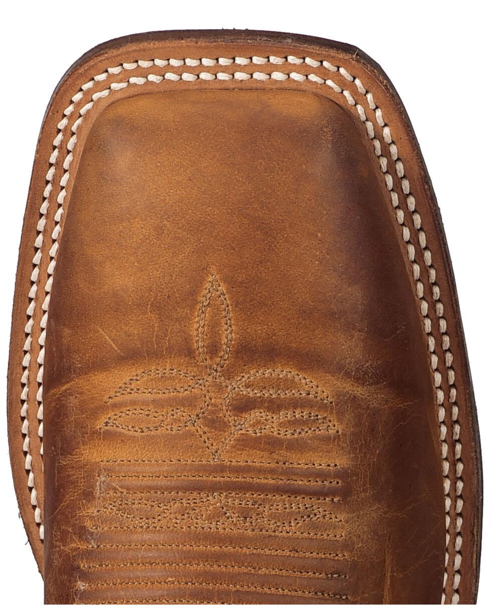 Justin Men's Bent Rail Square Toe Western Boots, Brown, hi-res