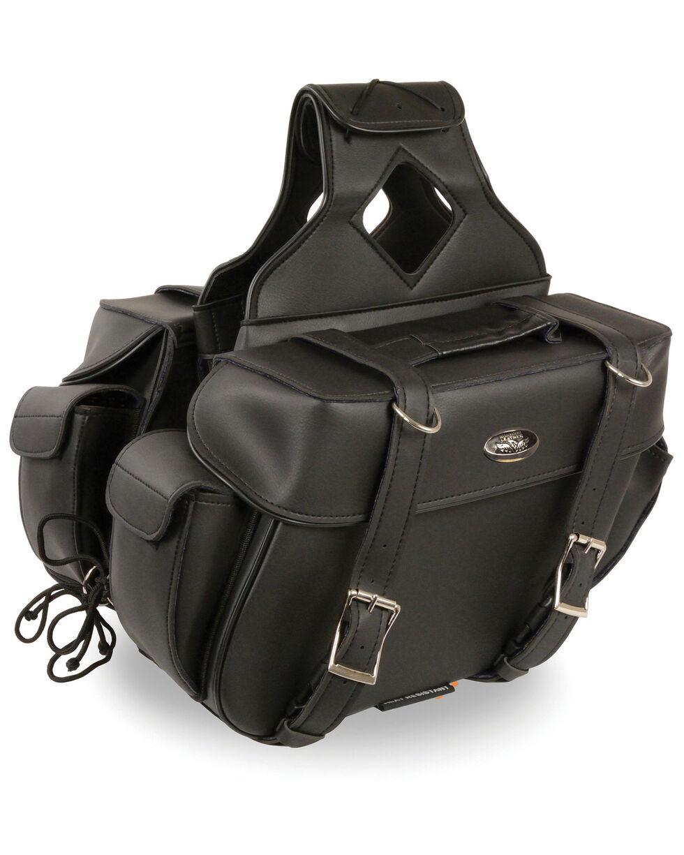 Milwaukee Leather Medium PVC Saddle Bag, Black, hi-res