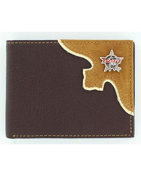 PBR Men's Pass Case Bi-Fold Wallet, Brown, hi-res