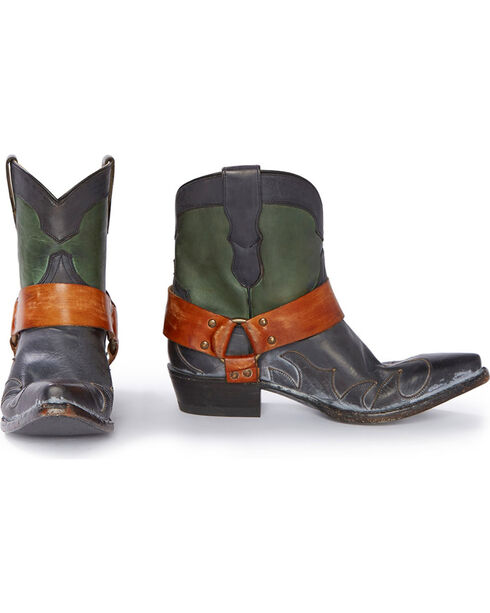 "Stetson Women's Jade 7"" Harness Western Boots - Snip Toe, Green, hi-res"
