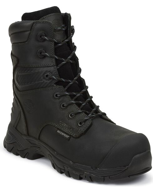 Justin Men's Original Waterproof Composite Toe Work Boots, Black, hi-res
