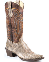 Stetson Women's Shelby Marbled Western Boots - Snip Toe, , hi-res