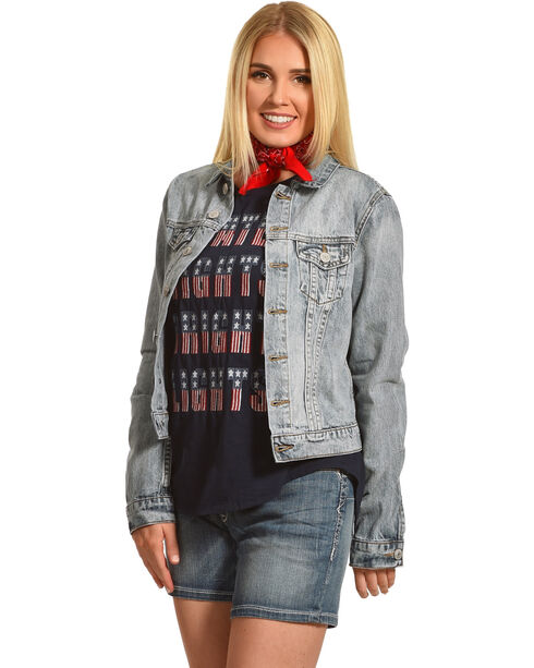 Shyanne® Women's Denim Jacket, Blue, hi-res