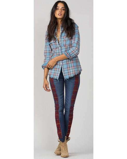 MM Vintage Women's Blue A Cut Above Plaid Shirt, Blue, hi-res