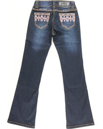 Shyanne Girl's Aztec Pocket Jeans - Boot Cut, , hi-res