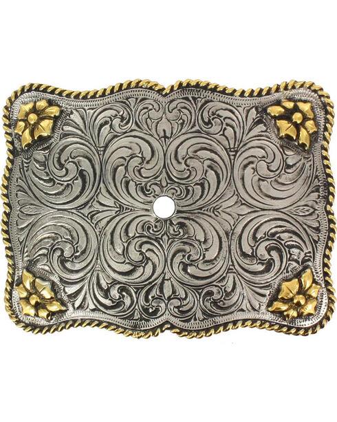 Cody James® Men's Interchangeable Belt Buckle, Silver, hi-res