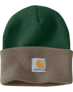 Carhartt Men's Dark Green Acrylic Watch Hat , Dark Green, hi-res
