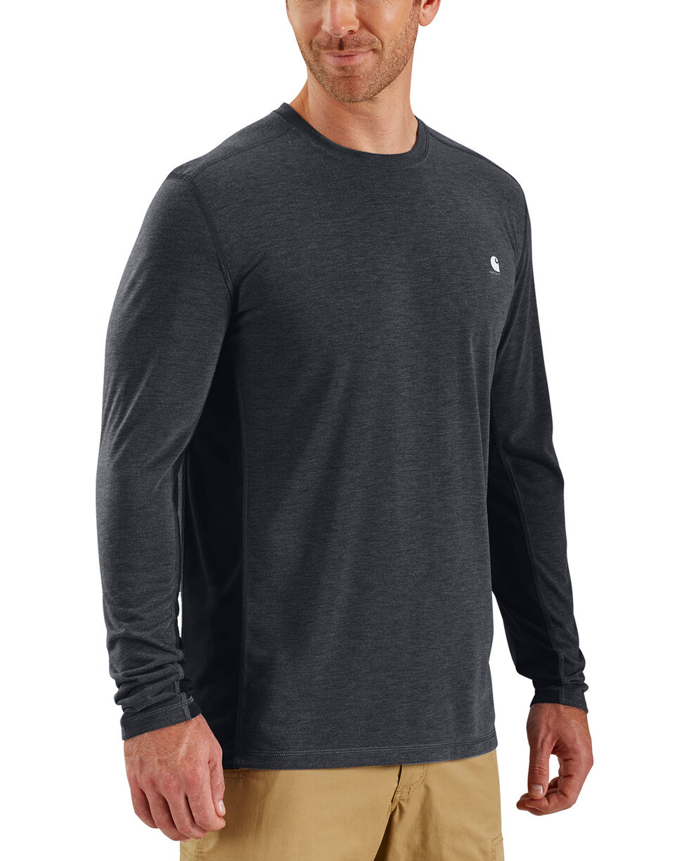 Carhartt Men's Black Force Extremes Long Sleeve T-Shirt, Black, hi-res