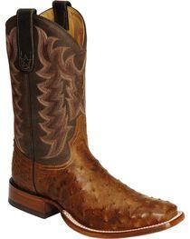 """Tony Lama Men's San Saba Full Quill Ostrich 11"""" Western Boots, , hi-res"""