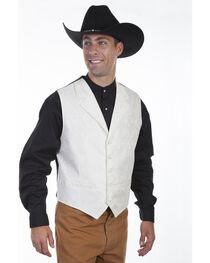 Scully Men's Cream Paisley Vest , , hi-res
