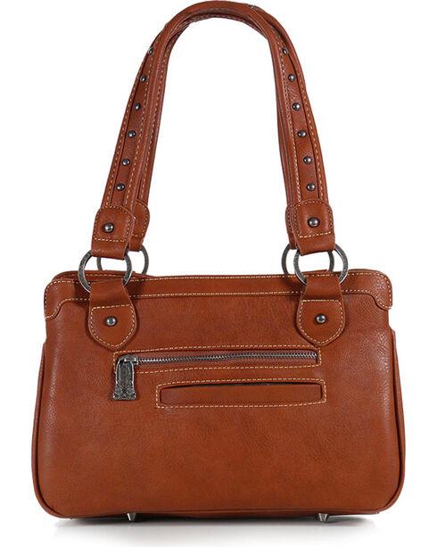 Trinity Ranch Women's Brown Floral Tooled Handbag , Brown, hi-res