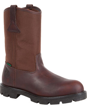 Georgia Men's Homeland Waterproof Wellington Boots, Brown, hi-res