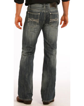 Rock and Roll Cowboy Pistol Flat Seam Detail Jeans - Boot Cut, Indigo, hi-res