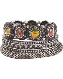 Shyanne Women's Mother of Pearl Bracelet Set, , hi-res
