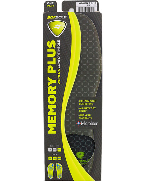 SofSole Women's Memory Plus Comfort Insoles, No Color, hi-res