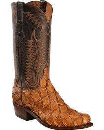 Lucchese Cognac Murphy Pirarucu Cowboy Boots - Narrow Square Toe , , hi-res
