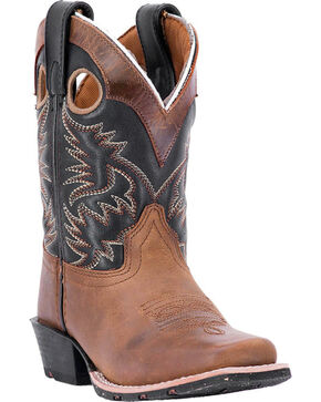 Dan Post Boys' Rascal Western Boots, Brown, hi-res