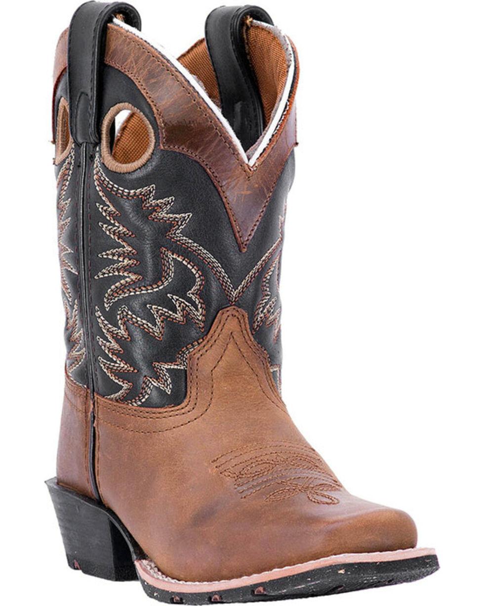 Dan Post Boys' Rascal Western Boots, Brown, hi-res