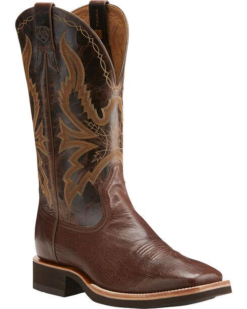 Ariat Men's Quantum Brander Crepe Exotic Boots, Dark Brown, hi-res