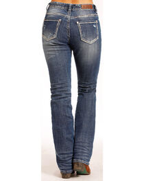 Rock & Roll Cowgirl Women's Boyfriend Feather Jeans - Straight Leg , , hi-res