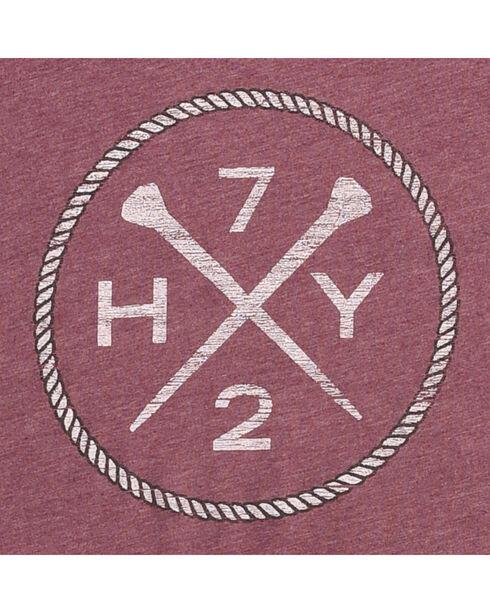 Hooey Men's Purple HY72 V-Neck T-Shirt , Purple, hi-res