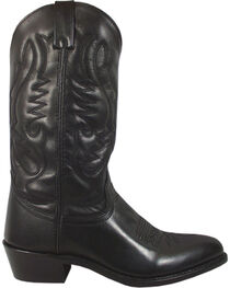 Smoky Mountain Men's Black Denver Cowboy Boots - Round Toe, , hi-res