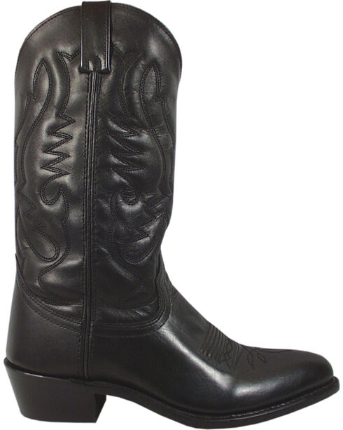 Smoky Mountain Men's Black Denver Cowboy Boots - Round Toe, Black, hi-res