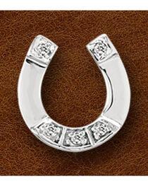 Kelly Herd Sterling Silver Rhinestone Horseshoe Pendant, , hi-res