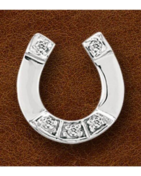 Kelly Herd Sterling Silver Rhinestone Horseshoe Pendant, Silver, hi-res