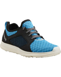 Ariat Boys' Fuse Highlighter Blue Mesh Shoes, , hi-res