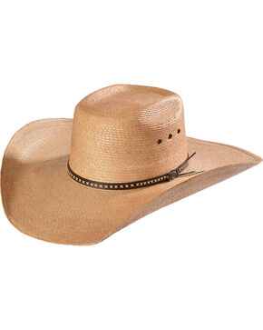 Justin Bent Rail Gunslinger Copper Straw Cowboy Hat , Copper, hi-res
