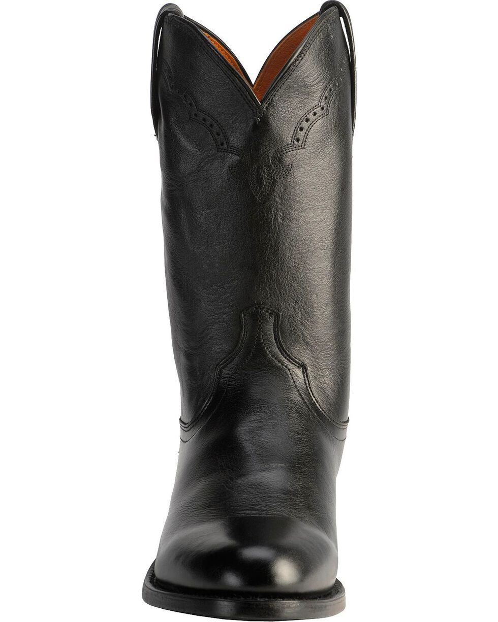 Lucchese Handcrafted 1883 Lonestar Calf Roper Boots - Round Toe, Black, hi-res
