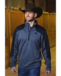 Cinch Men's Navy Tech Fleece 1/2 Zip Pullover , , hi-res