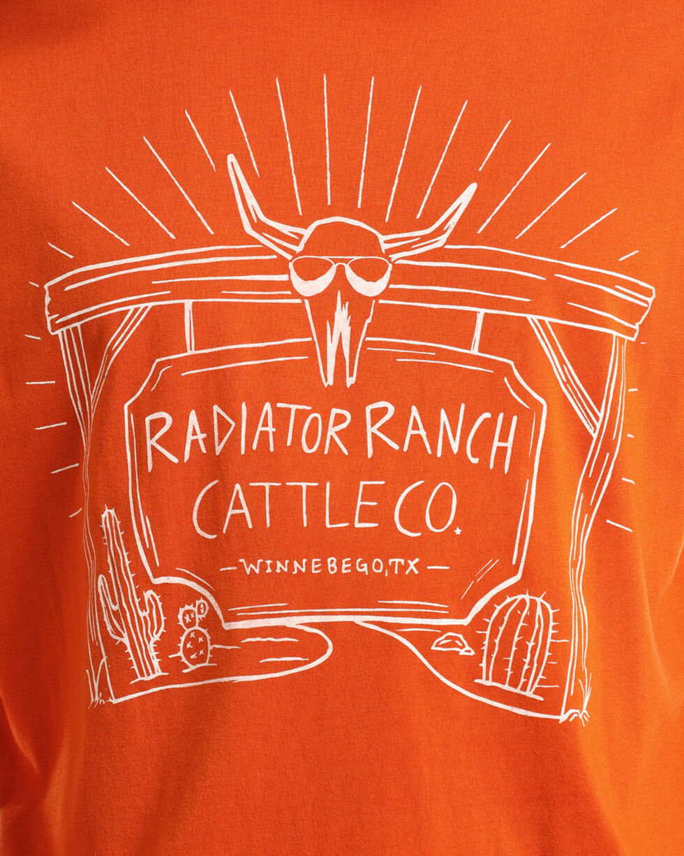 Dale Brisby Men's Radiator Ranch Tee, Orange, hi-res