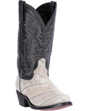 Laredo Men's Smoke Eel Exotic Boots, Grey, hi-res