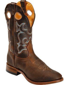 "Boulet Men's 12"" Full Round Toe Roper Heel Boots, Brown, hi-res"