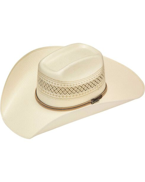 Twister 10X Shantung Colton Beaded Band Straw Cowboy Hat, Ivory, hi-res