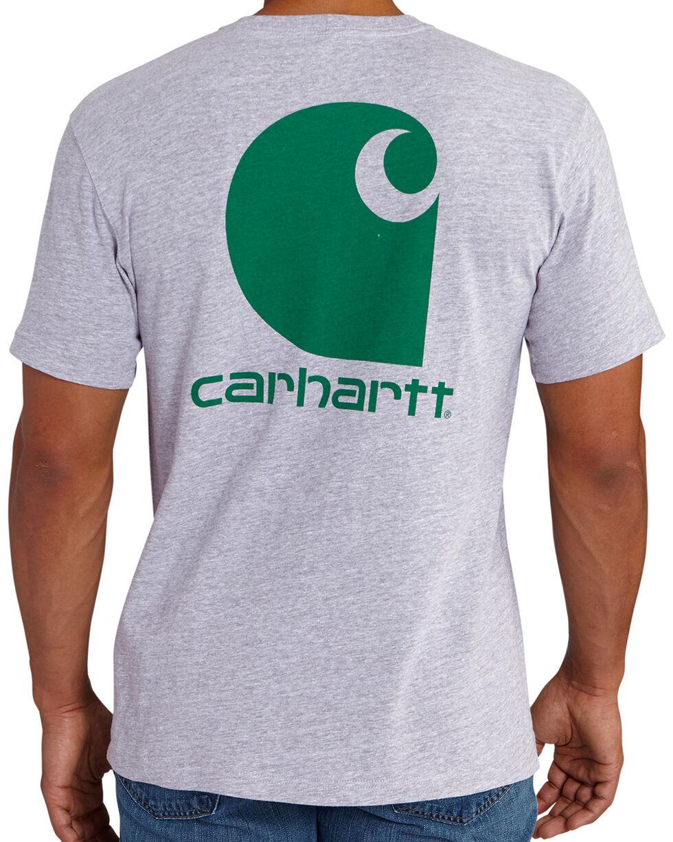 Carhartt Men's Grey Maddock Graphic Shamrock Branded 'C' Short-Sleeve T-Shirt, Grey, hi-res