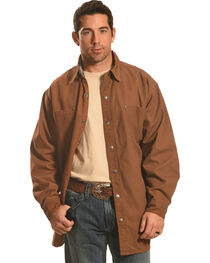 Forge Workwear Men's Brown Lined Shirt Jacket , , hi-res